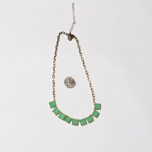 Green gem costume necklace
